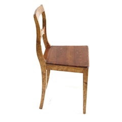 Carl Johan Antique Swedish Chair, Late 1800s