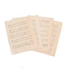 Antique Musical Notes from Sweden from Different Compositions