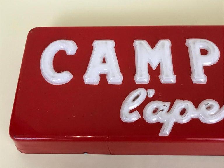 1970s Vintage Italian Campari L'aperitivo Campari the Aperitif Illuminated Sign For Sale 8