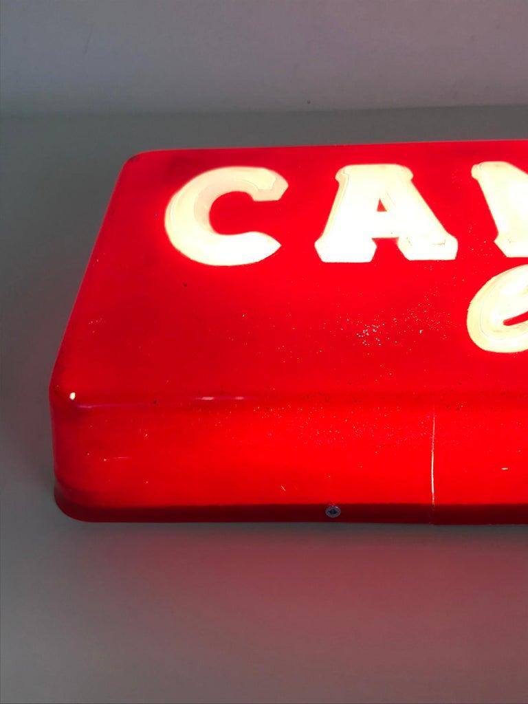 1970s Vintage Italian Campari L'aperitivo Campari the Aperitif Illuminated Sign For Sale 7
