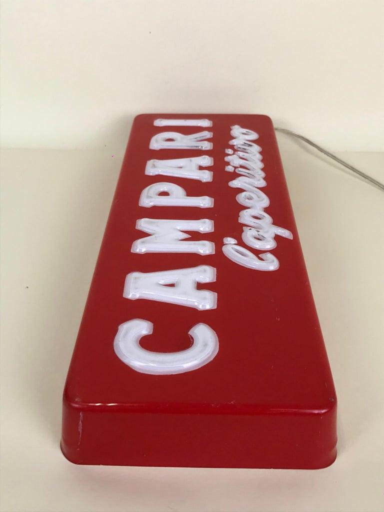 1970s Vintage Italian Campari L'aperitivo Campari the Aperitif Illuminated Sign For Sale 11
