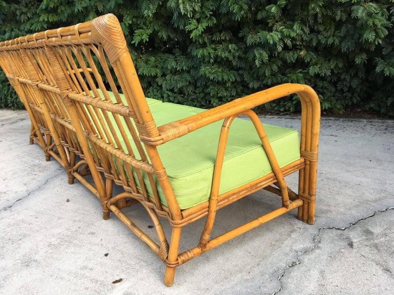Large Organic Modern Rattan Bamboo Sofa For Sale 1