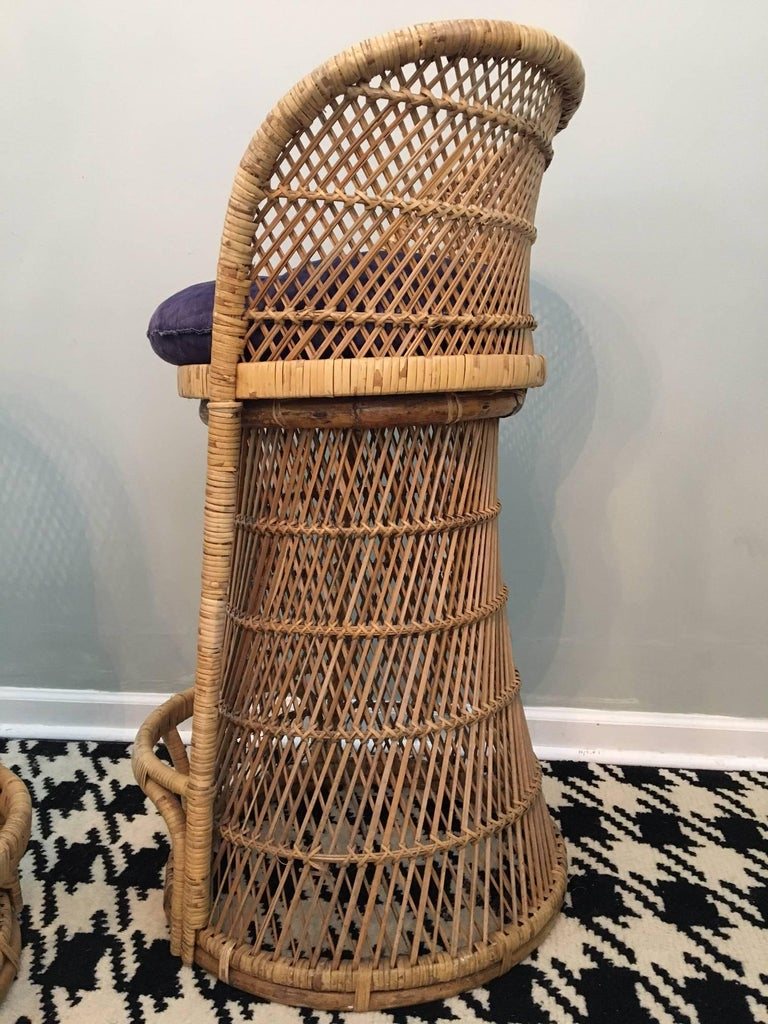 Vintage Wicker Bar Stools For Sale At 1stdibs