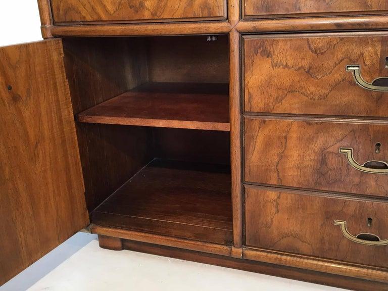 Vintage Drexel Accolade Ten Drawer Campaign Dresser At 1stdibs