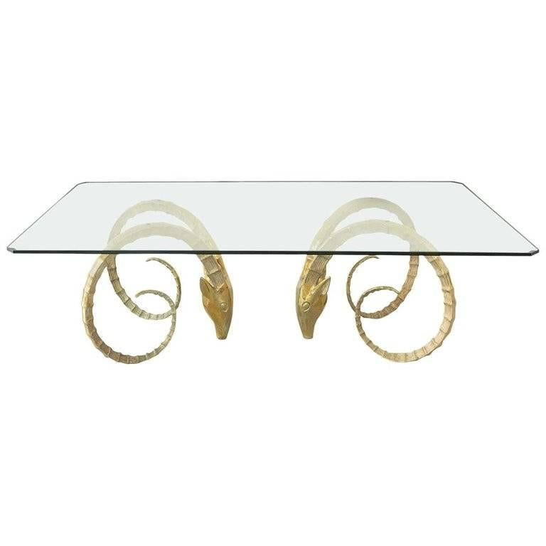 Solid Brass Ibex Dining Table in the Style of Alain Chervet
