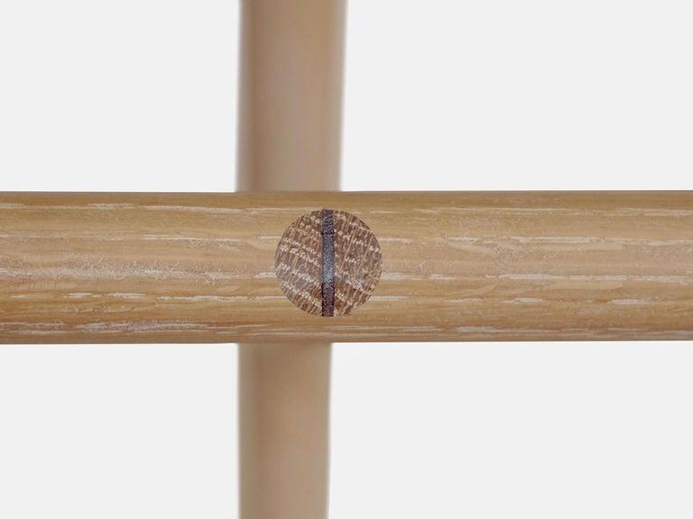 Modern Hudson Cerused Oak 3-Legged Wood Counter Height Stool by New York Heartwoods For Sale