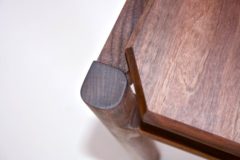 Hand-Crafted Black Walnut Hewitt Wood Dining Chair by New York Heartwoods For Sale