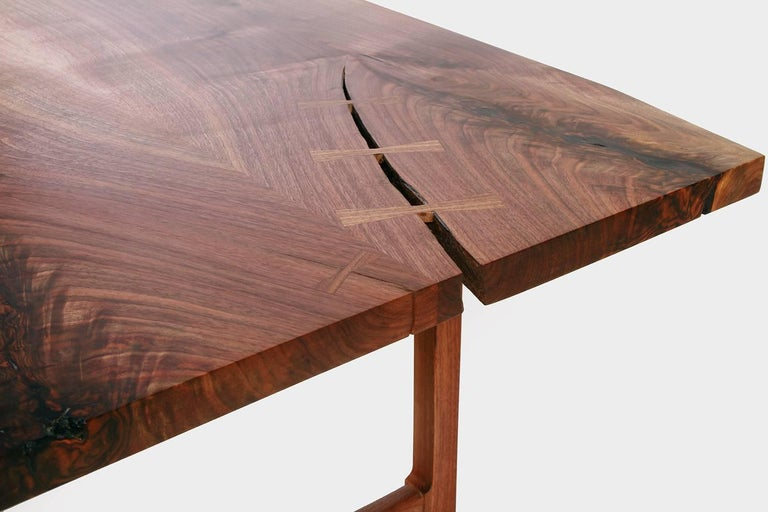 Mid-Century Modern Highland Black Walnut Mid-Century Style Coffee Table by New York Heartwoods For Sale