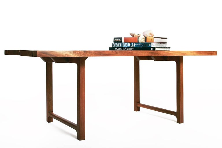 American Highland Black Walnut Mid-Century Style Coffee Table by New York Heartwoods For Sale