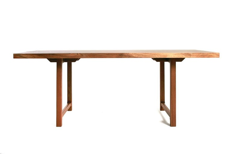 Hand-Crafted Highland Black Walnut Mid-Century Style Coffee Table by New York Heartwoods For Sale