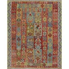 Traditional Handwoven Turkish Kilim Rug, RC 108823