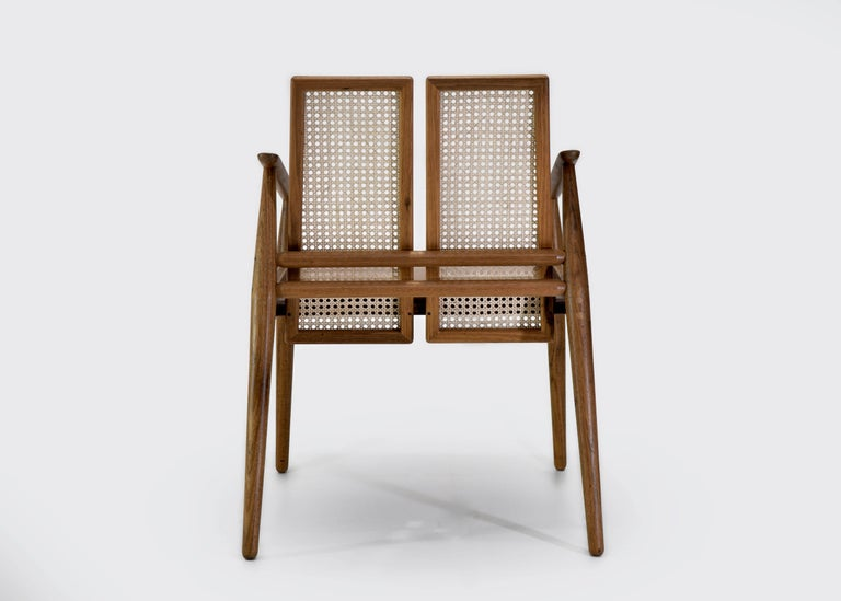 Other Chair Dalila on Tropical Brazilian Hardwood and Natural Leather For Sale