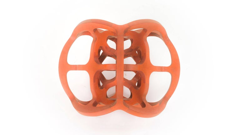 Contemporary Mexican Geometric Handcrafted Dual Cube Sphere Sculpture For Sale 5