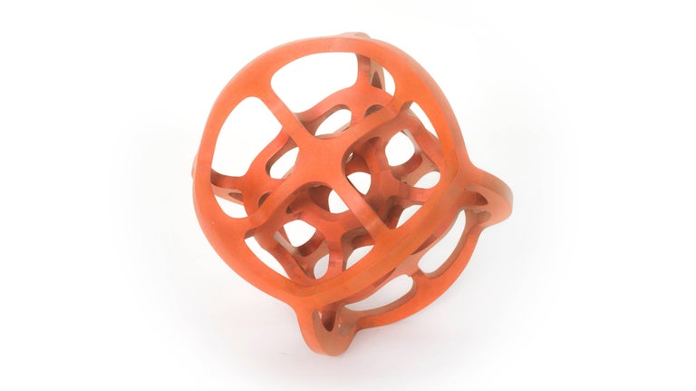 Hand-Crafted Contemporary Mexican Geometric Handcrafted Dual Cube Sphere Sculpture For Sale