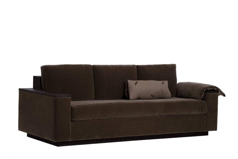American Bolton Sofa in Mohair For Sale