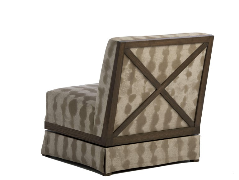 Vegetable Dyed Evan Swivel Chair For Sale