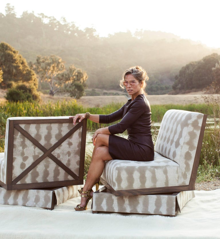Evan Swivel Chair In New Condition For Sale In Carmel, CA