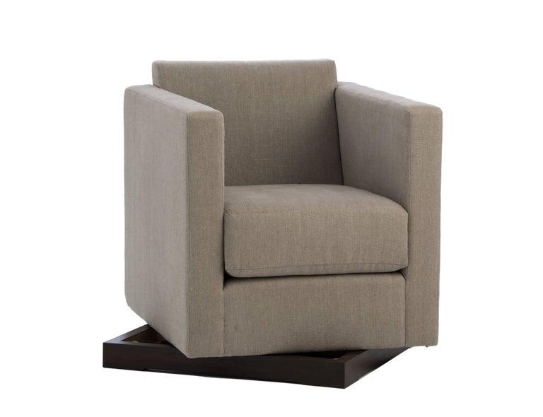 Art Deco Ralph Swivel Club Chair For Sale