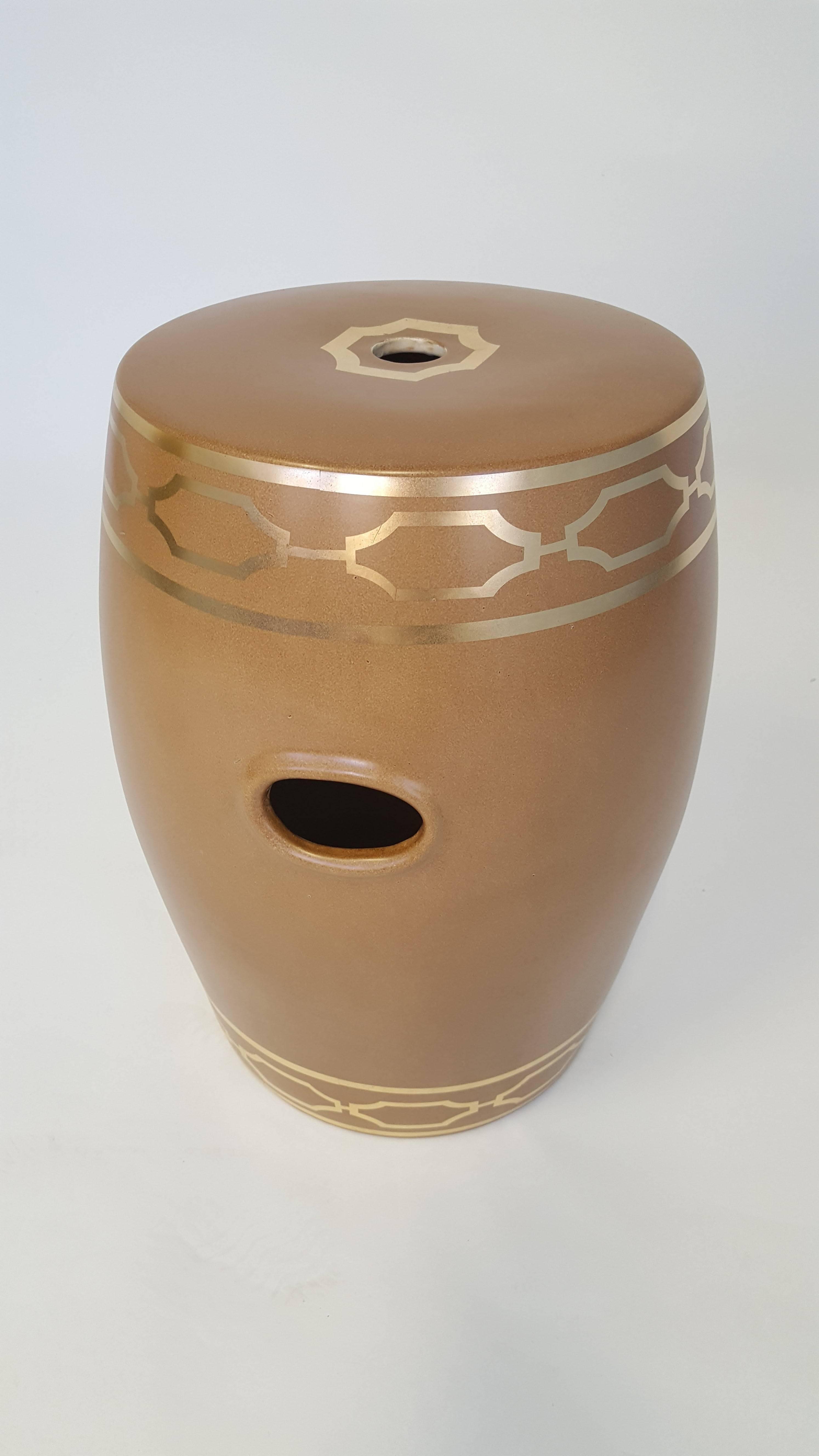Scalamandre Porcelain Garden Stool For Sale at 1stdibs