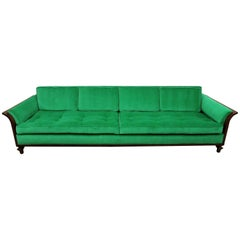 Tomlinson Walnut Sofa- Mid Century with New Upholstery