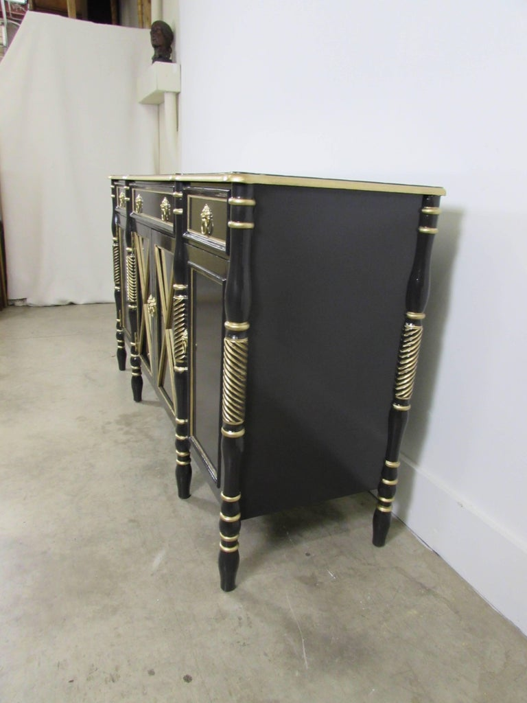 Maison Jansen Lacquered Sideboard In Excellent Condition For Sale In Raleigh, NC