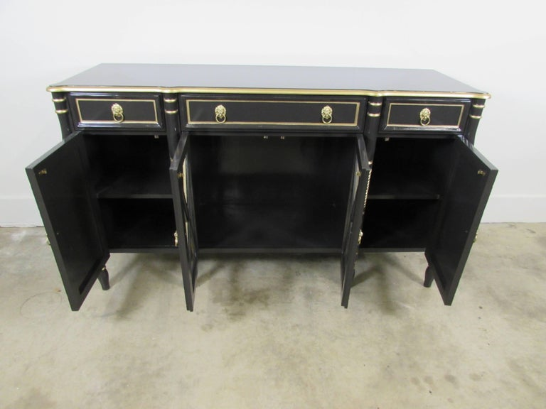 American Maison Jansen Lacquered Sideboard For Sale