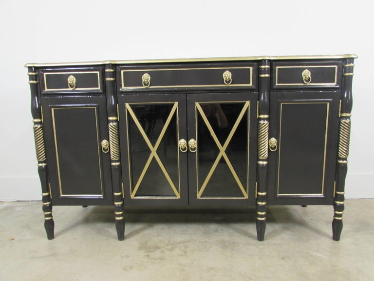 20th Century Maison Jansen Lacquered Sideboard For Sale