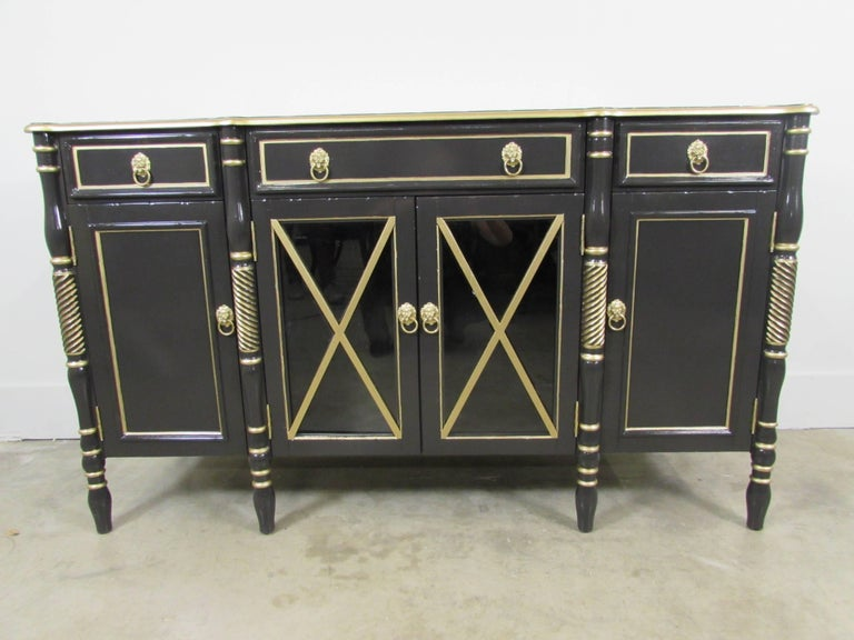 Mahogany Maison Jansen Lacquered Sideboard For Sale