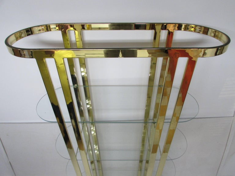 20th Century Milo Baughman Midcentury Brass Étagère For Sale