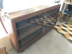 20th Century French Oak and Glass Vitrine, 1940s