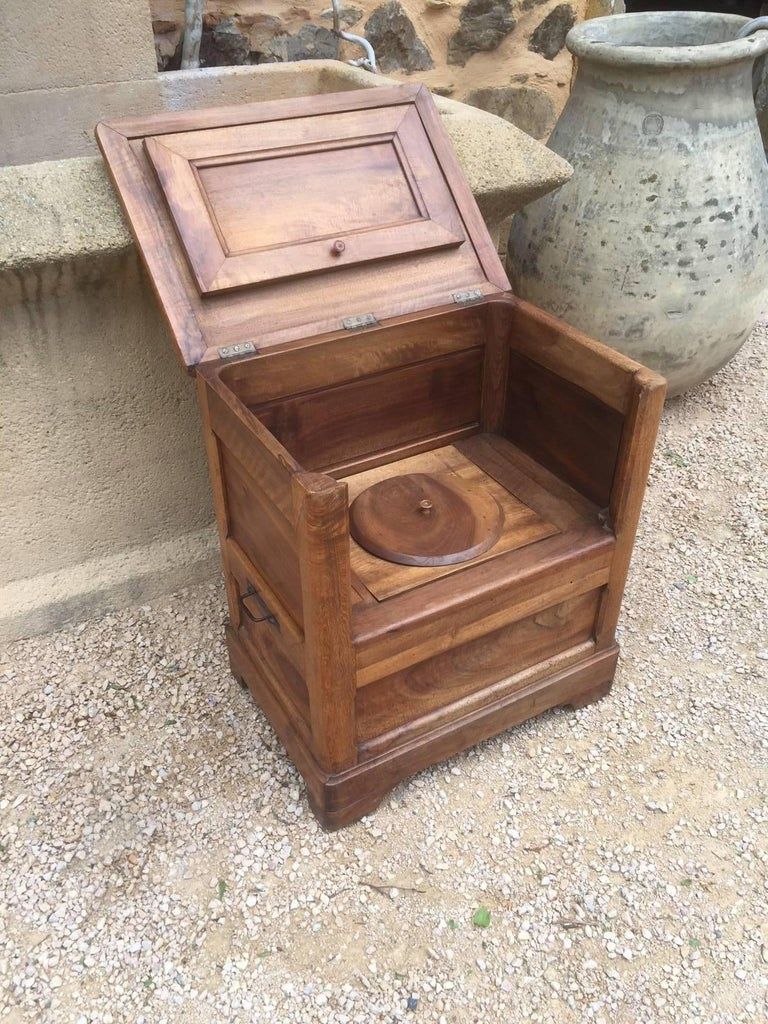 French Old Walnut Toilets, 19th Century For Sale at 1stdibs