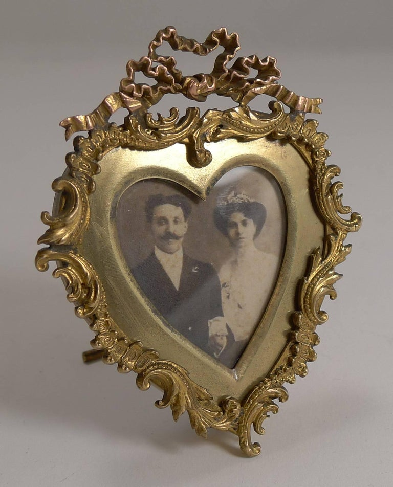 Quality Small Antique Heart Shaped Photograph Frame, circa 1880 For ...