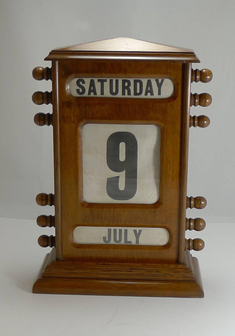 Antique English Perpetual Desk Calendar At 1stdibs