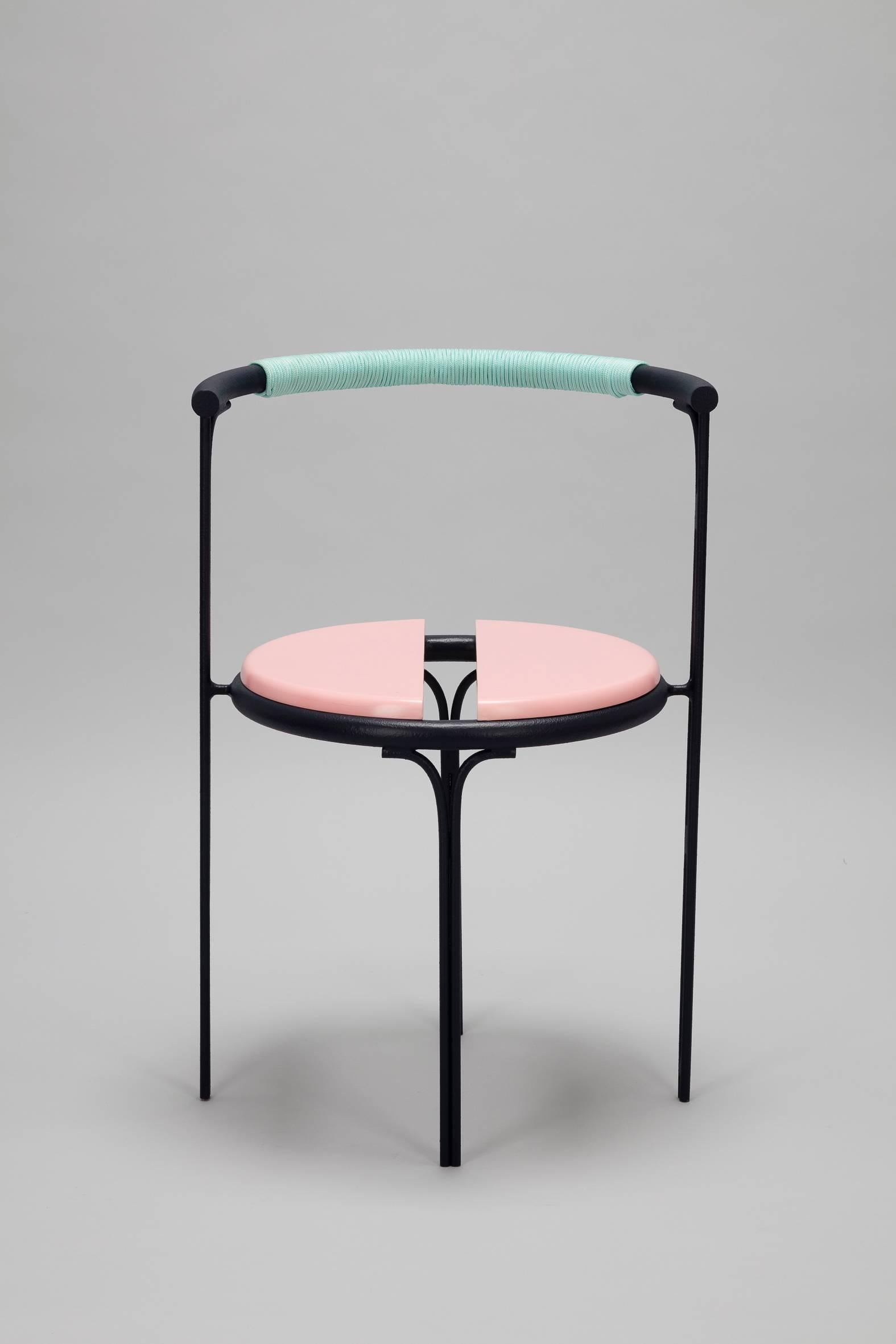 pink cafe chair caoba wood contemporary style for sale at 1stdibs