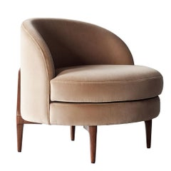 Belle Side Chair by DeMuro Das with Walnut Legs