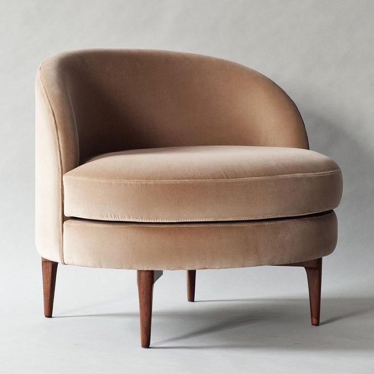 Belle Side Chair by DeMuro Das with Walnut Legs In New Condition For Sale In Brooklyn, NY