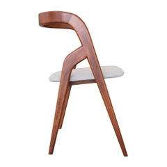 Chair in Suede and Wood designed by architect Vincenzo De Cotiis