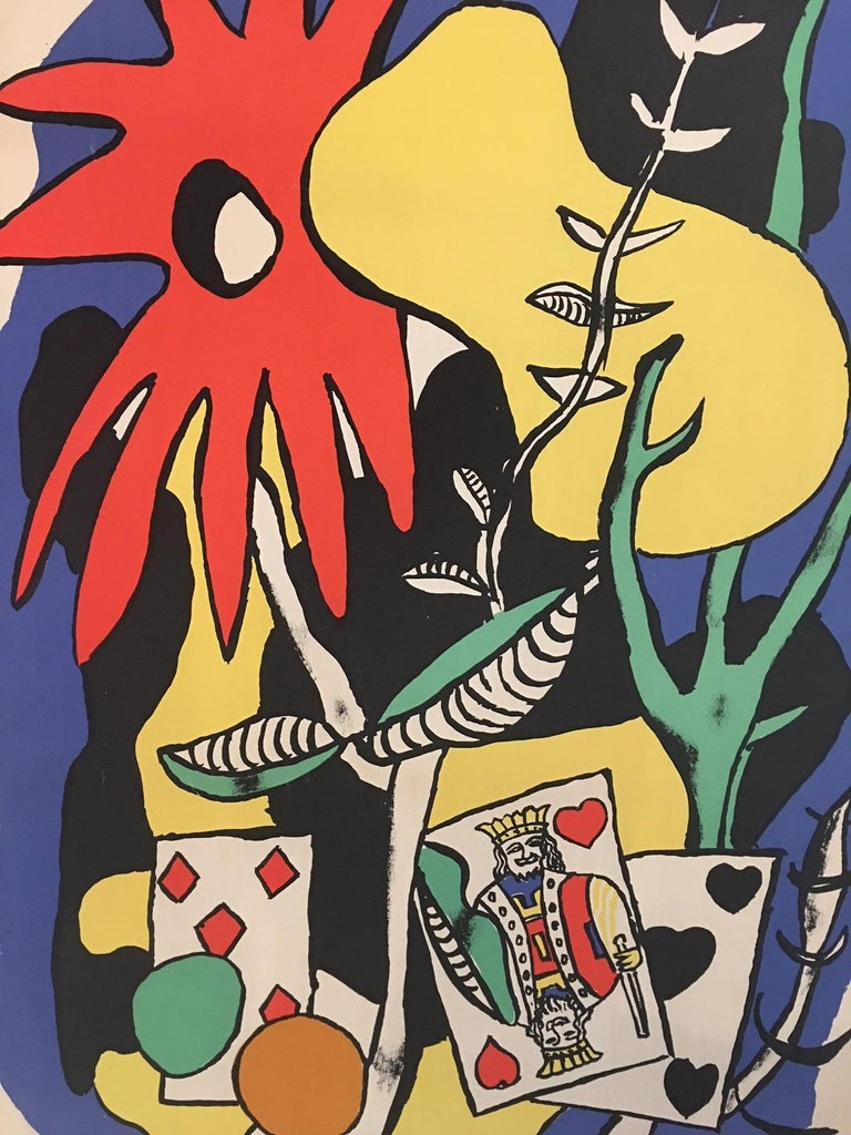 20th Century Original Vintage Poster the King of Hearts 1949 Fernand Léger Lithograph Poster For Sale