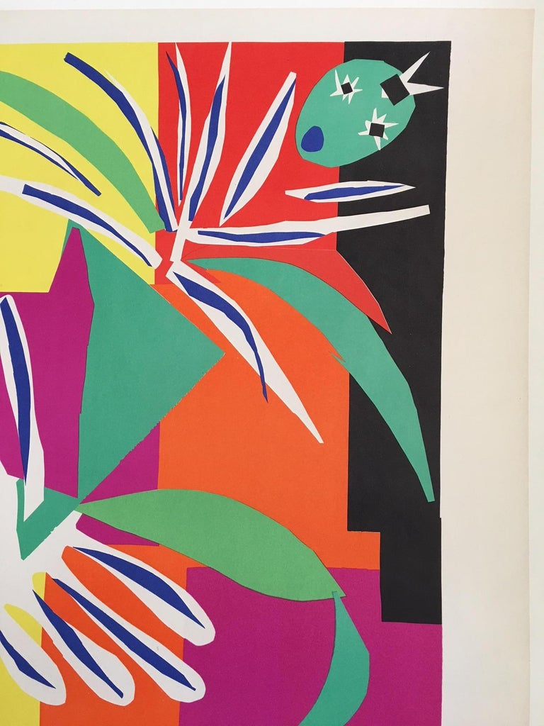 Mid-20th Century Vintage French Art & Exhibition Poster after Henri Matisse, 1960s, Nice For Sale