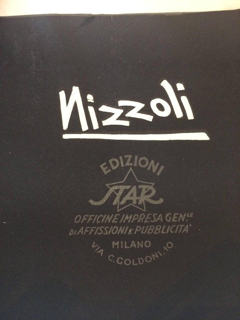 Original Vintage Poster Marcello Nizzoli Campari 1927 Linen Backed Lithograph For Sale 1
