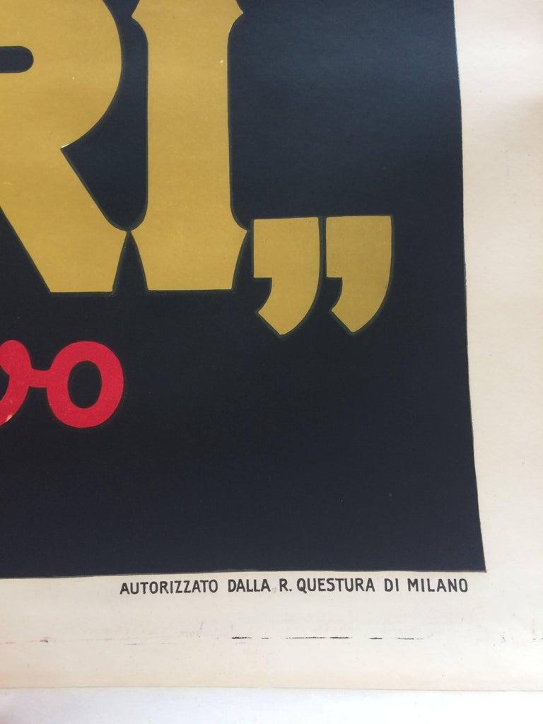 Original Vintage Poster Marcello Nizzoli Campari 1927 Linen Backed Lithograph In Excellent Condition For Sale In Melbourne, Victoria