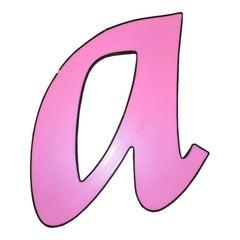 Vintage Pink Letter 'A' Gas Station Sign