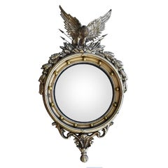 Large Ornate Federal Admiral Eagle Convex Mirror