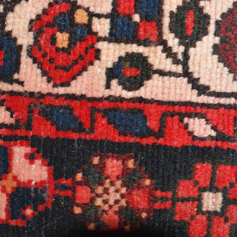 Delightful 19th Century Persian Rug In Red Black Blue Cream Tribal Bakshaish Hand Knotted  Wool For Nice Ideas