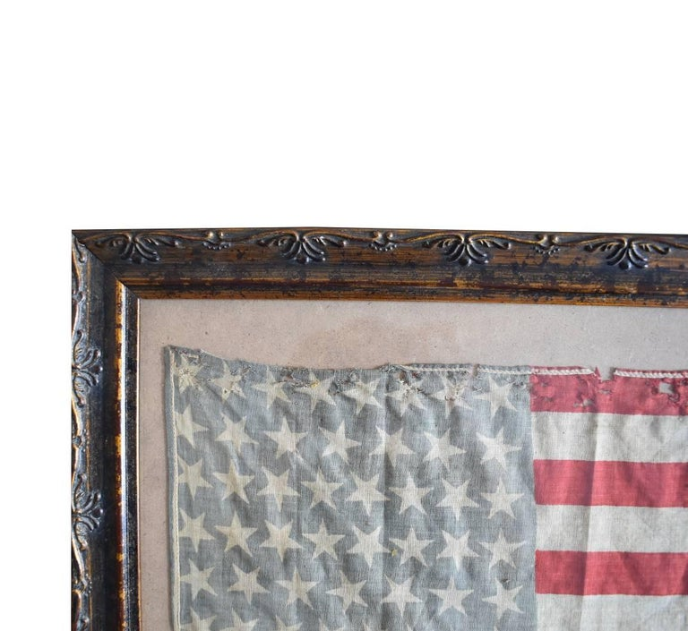 American Colonial 46 Star Oklahoma Flag in Red White Blue from Oklahoma 1907 For Sale
