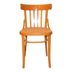 Vintage Bentwood and Cane Wood Side Chair in the style of Thonet