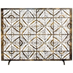 Bespoke Hand-Wrought Iron Tapestry Fireplace Screen Custom Order