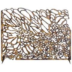 Bespoke Hand-Wrought Iron Reef Fireplace Screen - Custom Order