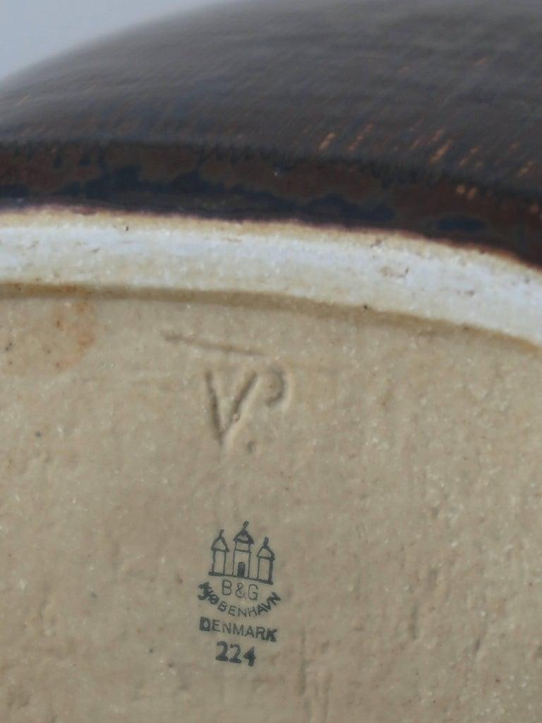 1960s Valdemar Petersen Scandinavian Stoneware Vases for Bing & Grondahl In Excellent Condition For Sale In Modena, IT