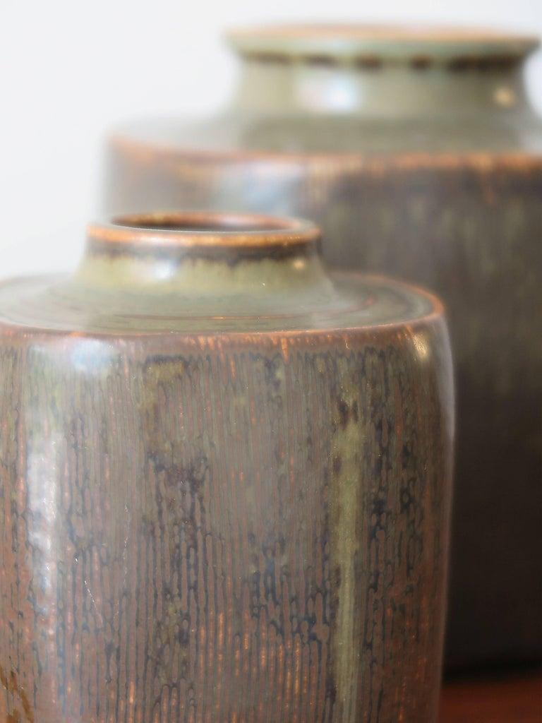 Danish 1960s Valdemar Petersen Scandinavian Stoneware Vases for Bing & Grondahl For Sale
